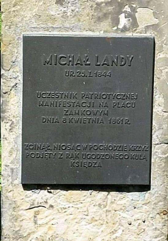 Grób Michała Landego nacmentarzu żydowskim przy Okopowej 1