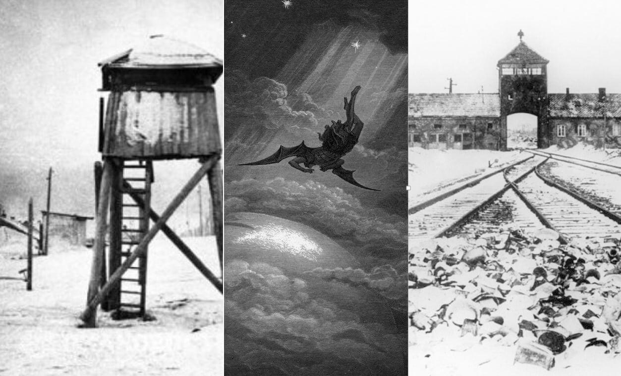 strażnica w łagrze, brama kolejowa Auschwitz