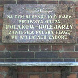 Kolejarze, pamiątkowa tablica 19.02.1945