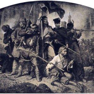 "Artur Grottger ""Bitwa"" (zcyklu pt.""Polonia"")"