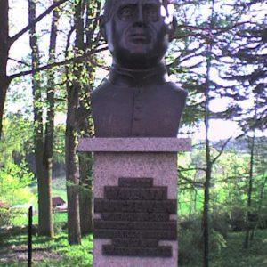 Pomnik ks.W. Barczewskiego wBrąswałdzie