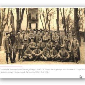 """Członkowie Towarzystwa Gimnastycznego """"Sokół"""" -1906 rok"""