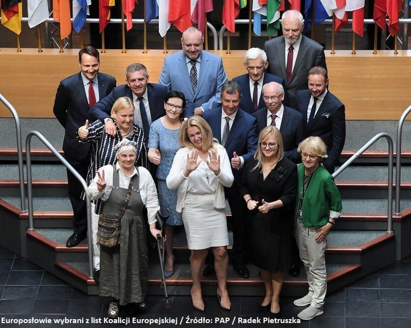 Eurodeputowani z Koalicji Europejskiej