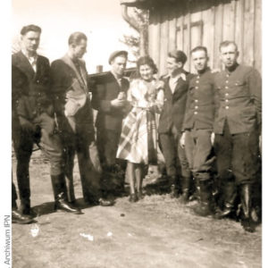 Żołnierze oddziału BOA i5. Wileńskiej Brygady AK. Koszalin, 1946.