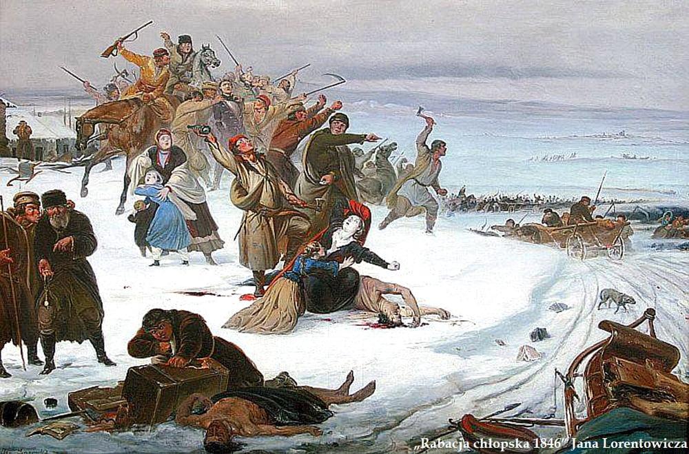 """Obraz """"Rabacja chłopska 1846"""" Jana Lorentowicza"""