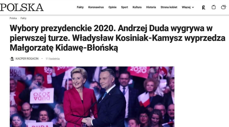 Andrzej Duda liderem sondaży