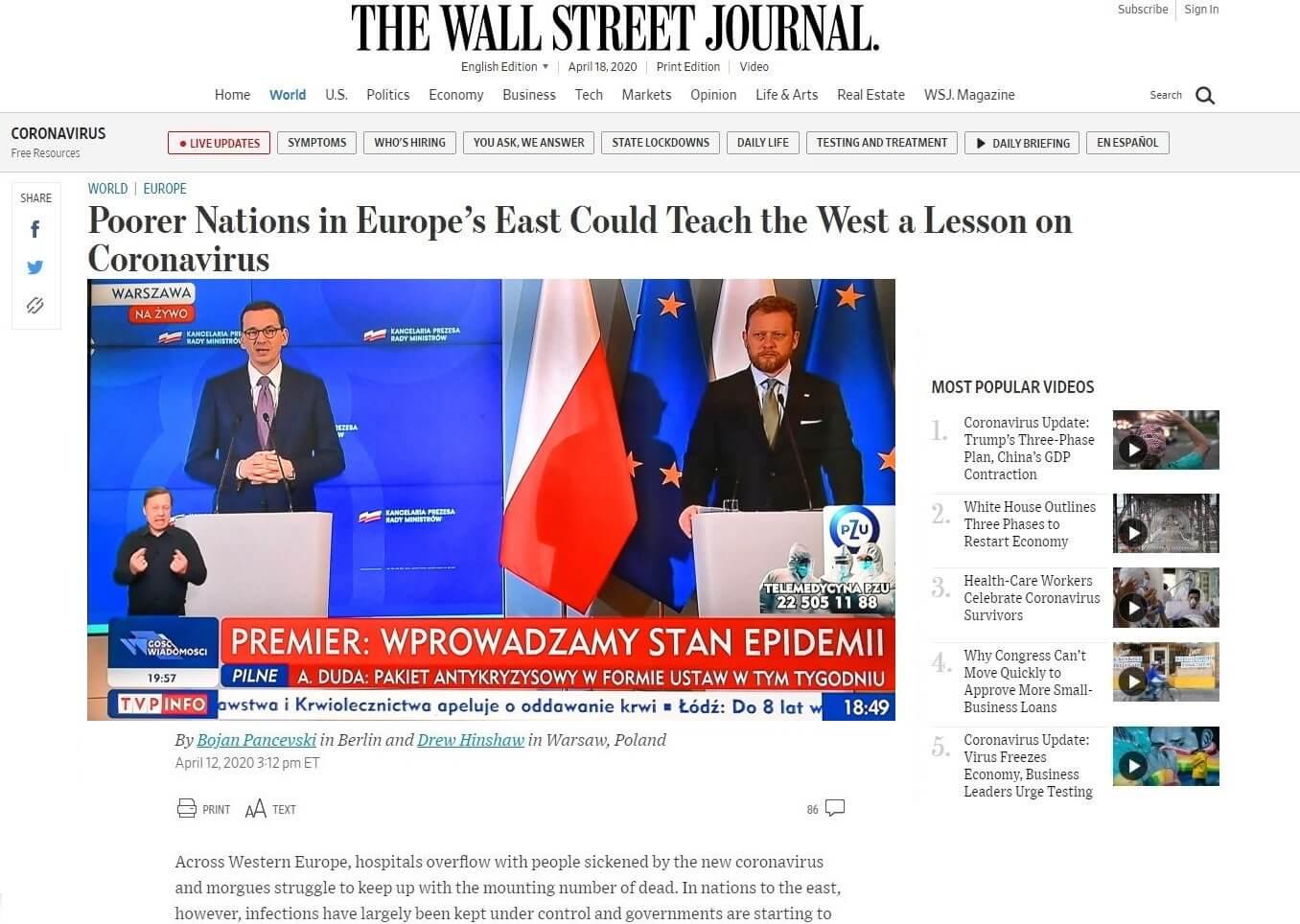 Artykuł Wall Street Journal