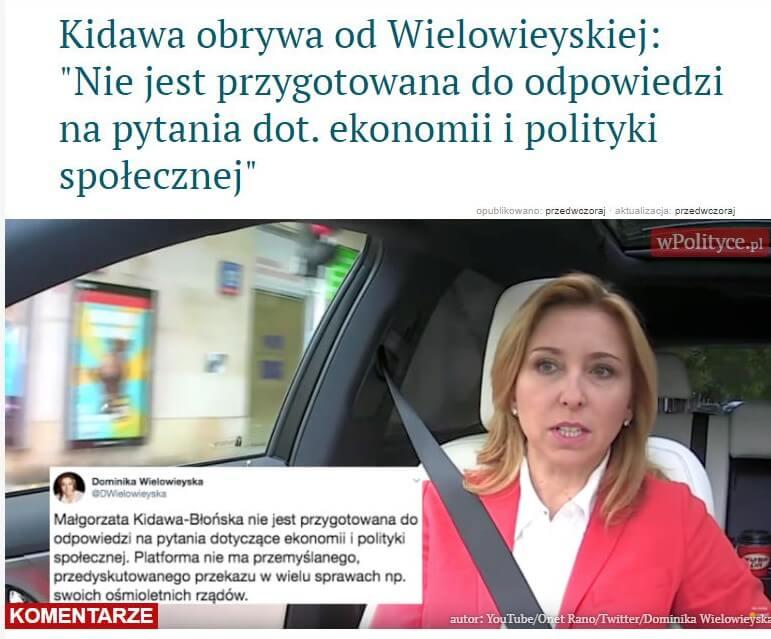 Dominika Wielowieyska (GW) okandydatce KO