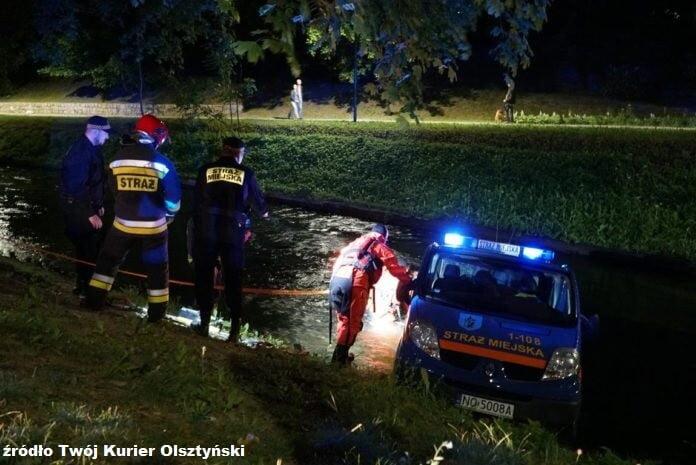 Samochód straży miejskiej wŁynie, Olsztyn