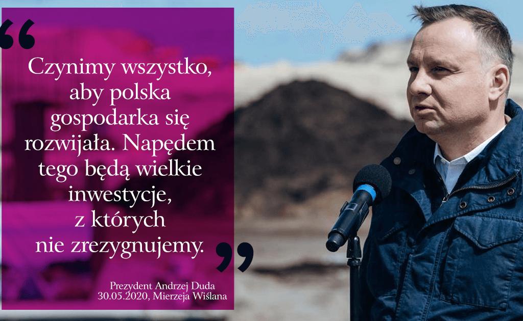 Andrzej Duda orozwoju gospodarczym Polski