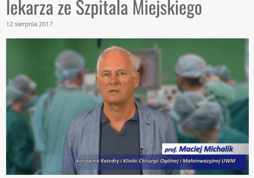 Maciej Michalik -zestawienie