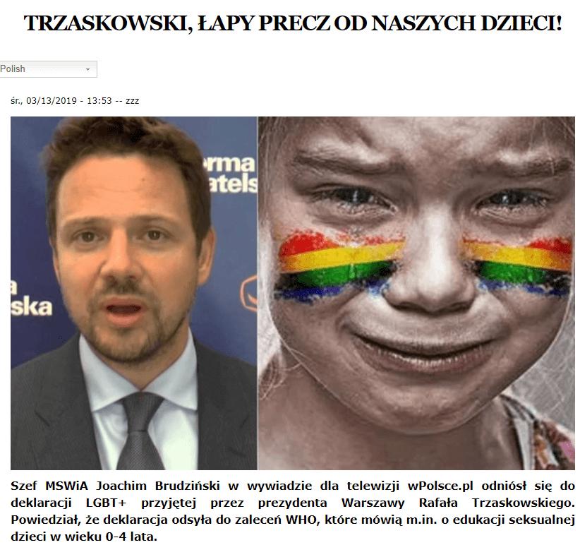 Trzaskowski -LGBT