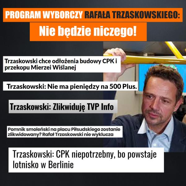 Rafał Trzaskowski -program