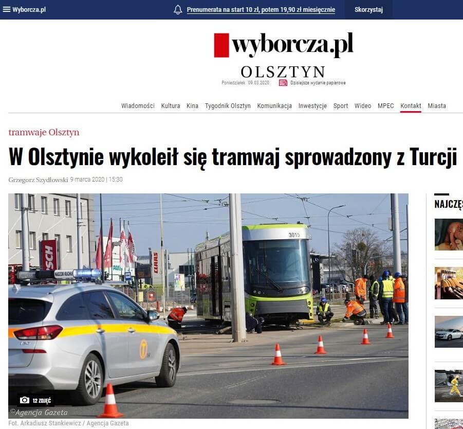Turecki tramwaj wOlsztynie