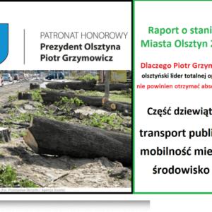 Raport ostanie miasta: transport publiczny, mobilność miejska, środowisko