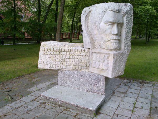 Pomnik B.Linki wOlsztynie (wmiejscu jego grobu)