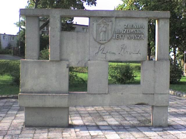 Pomnik S. Żeromskiego wIławie