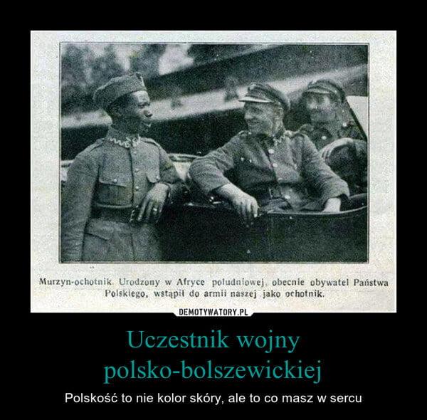 Sam Sandi jako ochotnik doWojska Polskiego