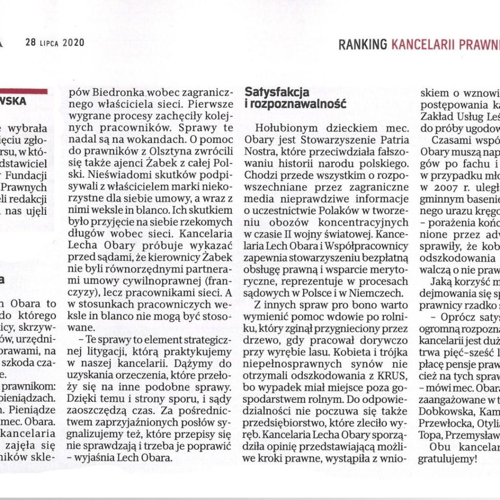 """Artykuł zRzeczpospolitej """"Patria Nostra"""""""