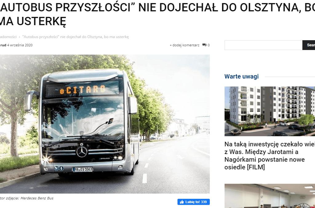 autobus niedojechał