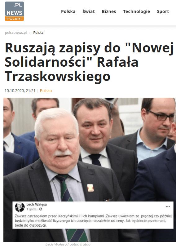 Nowa Solidarność Trzaskowskiego