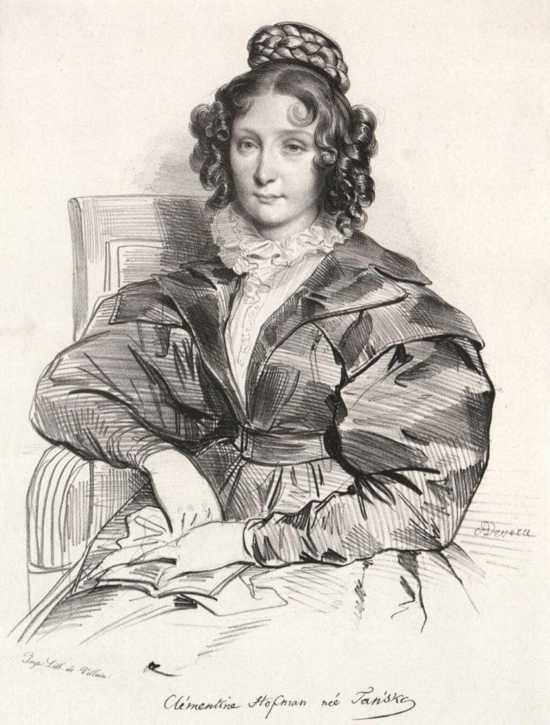 Klementyna Tańska (lit. Achille Devéria)