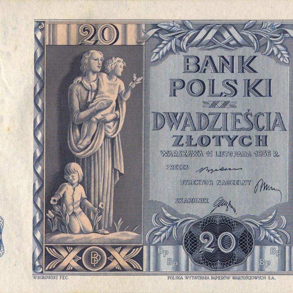 Banknot -20 zł