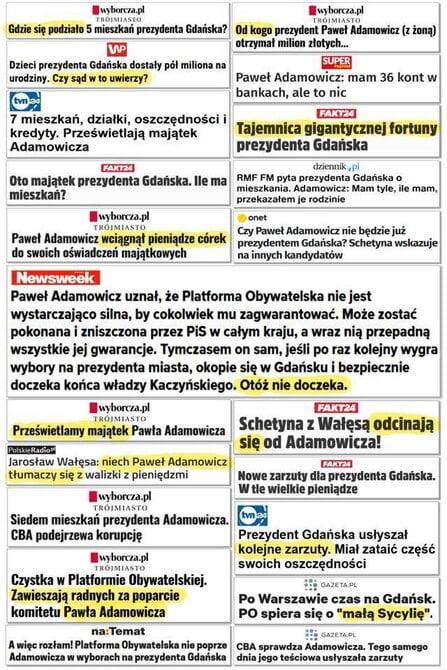 Nagonka naPawła Adamowicza