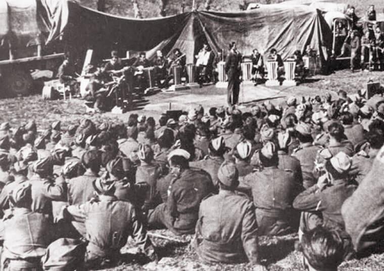 Występ dla polskich żołnierzy