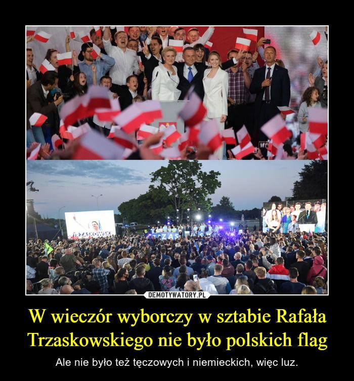 wieczór wyborczy Dudy iTrzaskowskiego -emotywatory