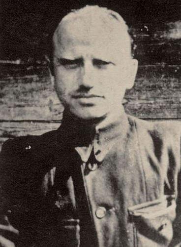 """Mjr Zygmunt Szendzielarz ps. """"Łupaszka"""" –fotografia zokresu walki wantykomunistycznym podziemiu niepodległościowym (fot.zarchiwum IPN)"""