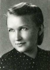 """Elżbieta Zawacka (1909-2009) –jedyna kobieta wśród """"cichociemnych"""", aresztowana wOlsztynie w1951 roku (fot.zarchiwum IPN)"""