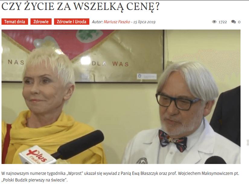 Wojciech Maksymowicz iEwa Błaszczyk