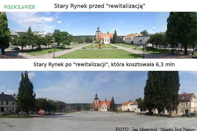 Stary Rynek weWłocławku -przediporewitalizacji