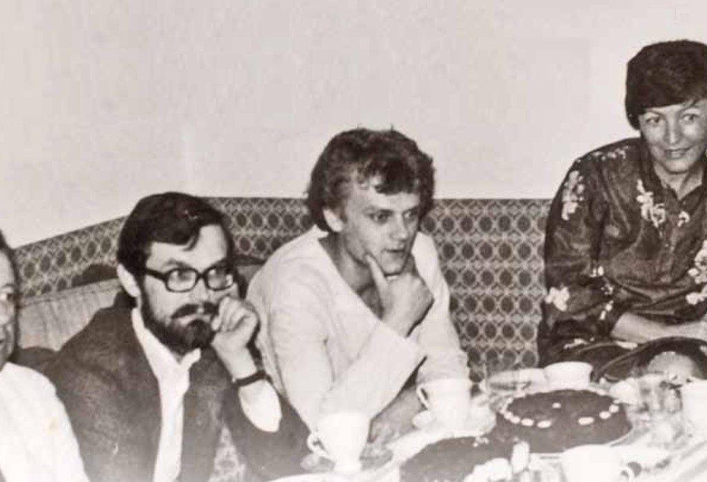 Od lewej: Detlef Ruser –agent STASI, Grzegorz Fortuna, Donald Tusk, Ewa Górska