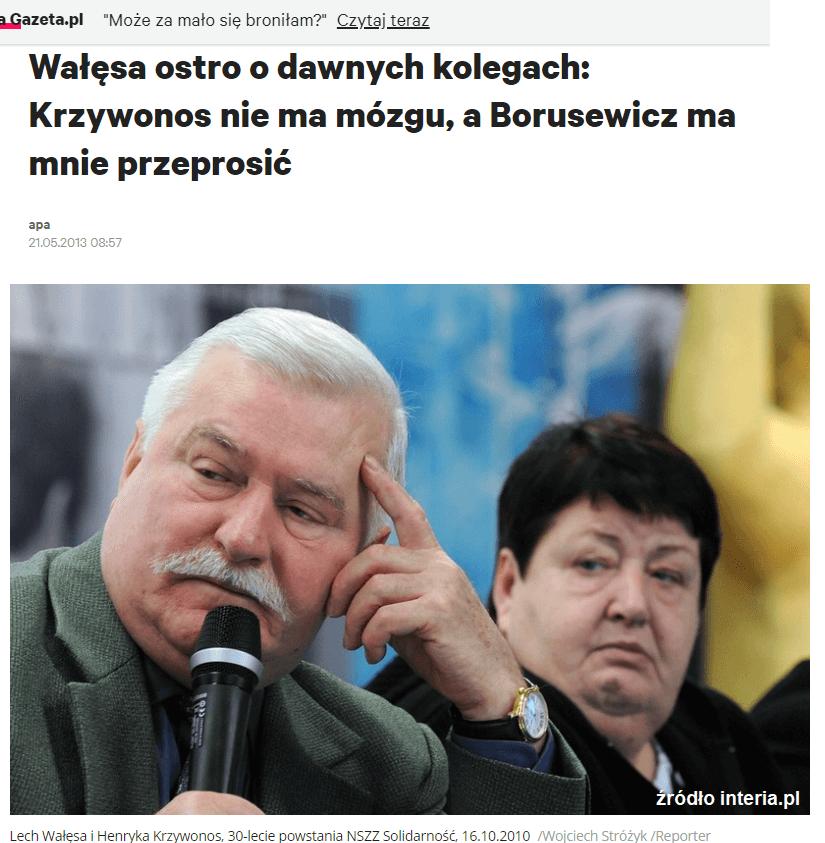 Lech Wałęsa iHenryka Krzywonos