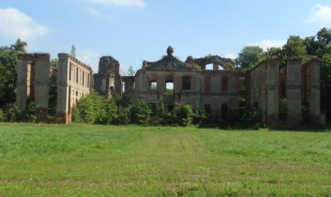 Ruina pałacu wKamieńcu koło Susza