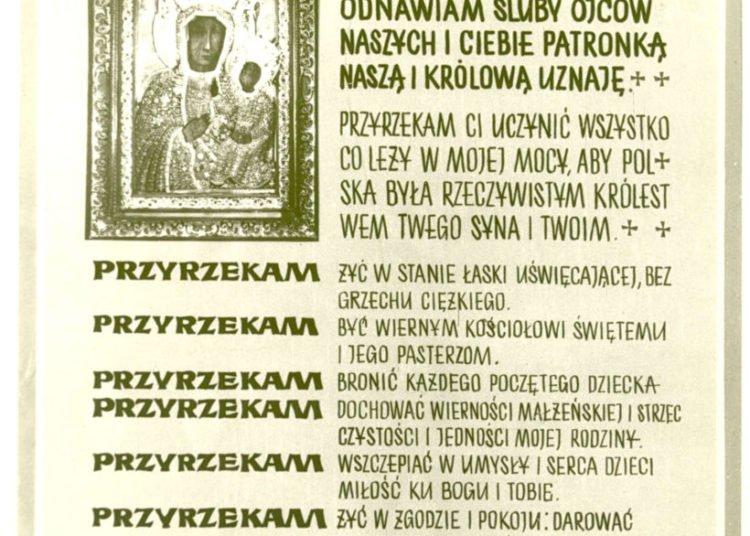 Śluby Jasnogórskie -treść